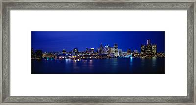 Usa, Michigan, Detroit, Night Framed Print by Panoramic Images