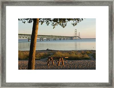 Usa, Michigan, Mackinaw City, Mackinac Framed Print by Peter Hawkins