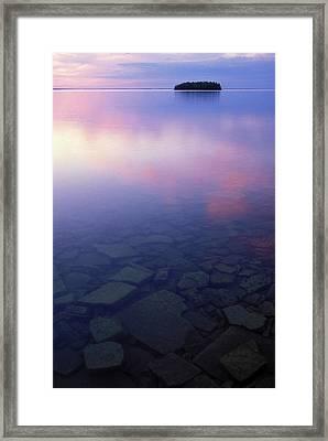 Usa, Michigan, Upper Peninsula, Picnic Framed Print by Jaynes Gallery