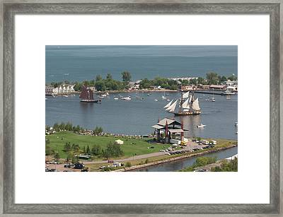 Usa, Minnesota, Duluth, Duluth Harbor Framed Print by Peter Hawkins