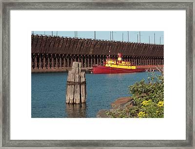 Usa, Minnesota, Two Harbors, Edna G Framed Print