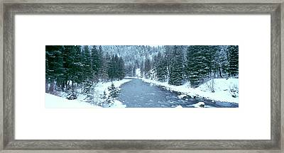 Usa, Montana, Gallatin River, Winter Framed Print by Panoramic Images