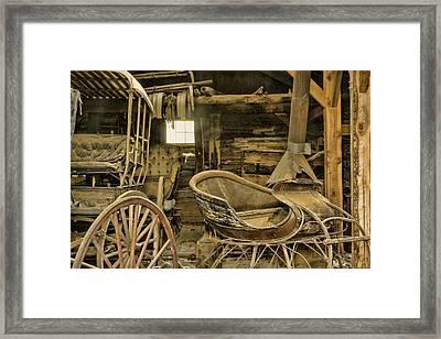 Usa, Montana, Virginia City Framed Print