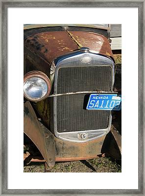 Usa, Nevada A 1934 Model T Ford Framed Print