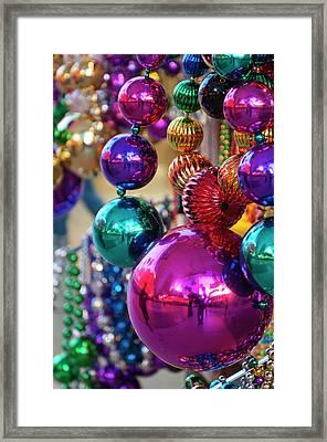 Usa, Nevada Christmas Decorations Framed Print by Michael Defreitas