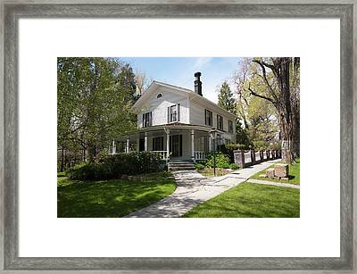 Usa, Nevada Historic G A Nourse And D Framed Print by Michael Defreitas