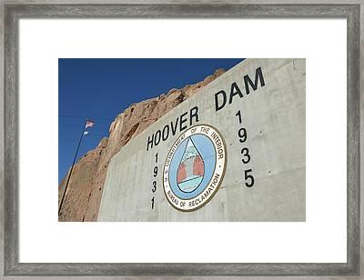 Usa, Nevada, Hoover Dam Us Department Framed Print