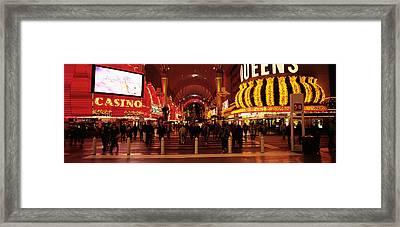 Usa, Nevada, Las Vegas, The Fremont Framed Print