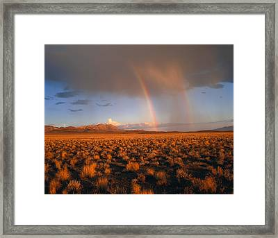 Usa, Nevada, Nevada Desert, Rainbows Framed Print by Panoramic Images