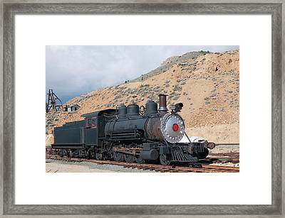 Usa, Nevada Old Steam Train Engine Framed Print by Michael Defreitas