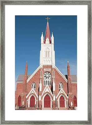 Usa, Nevada St Mary's In The Mountains Framed Print