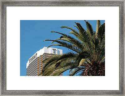 Usa, Nevada Trump Hotel Las Vegas Framed Print by Michael Defreitas
