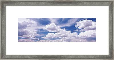 Usa, Nevada, View Of Cumulus Clouds Framed Print by Panoramic Images