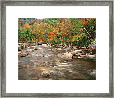 Usa, New Hampshire, White Mountains Framed Print by Adam Jones
