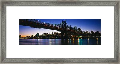 Usa, New York City, 59th Street Bridge Framed Print