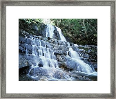 Usa, North Carolina, A Waterfall Framed Print by Jaynes Gallery