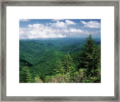 Usa, North Carolina, View Of Pisgah Framed Print by Adam Jones
