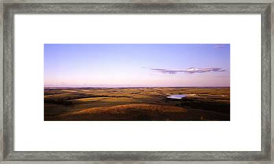 Usa, North Dakota, Stark County Framed Print by Panoramic Images