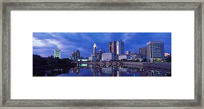 Usa, Ohio, Columbus, Scioto River Framed Print by Panoramic Images