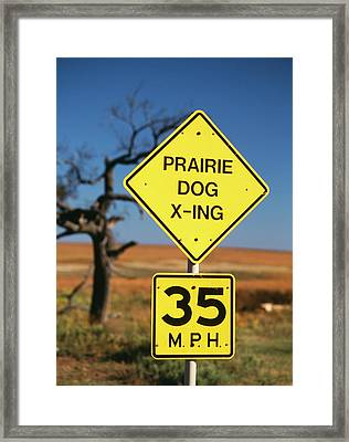 Usa, Oklahoma, Speed Limit Road Sign Framed Print