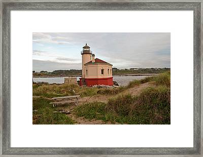 Usa, Oregon, Bandon, Coquille River Framed Print by Peter Hawkins