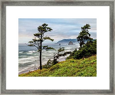 Usa, Oregon, Cannon Beach, View Framed Print