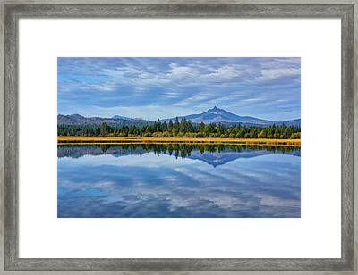 Usa, Oregon Clouds Reflect In Small Framed Print by Jaynes Gallery