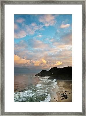 Usa, Oregon Heceta Head Lighthouse Framed Print