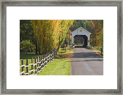 Usa, Oregon, Lake Creek Framed Print