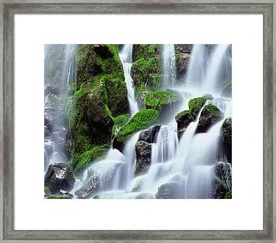 Usa, Oregon, Mount Hood, Ramona Falls Framed Print by Jaynes Gallery