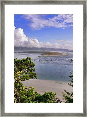 Usa, Oregon Netarts Bay In Cape Lookout Framed Print by Jaynes Gallery