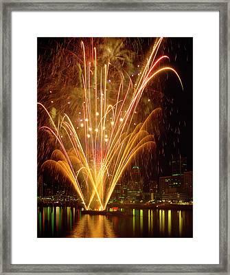 Usa, Oregon, Portland, Independence Day Framed Print by Jaynes Gallery