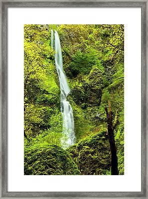 Usa, Oregon, Wahkeena Falls Framed Print by Richard Duval