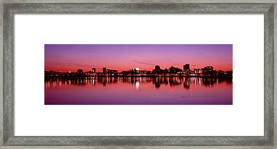 Usa, Pennsylvania, Harrisburg At Dusk Framed Print by Panoramic Images
