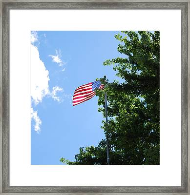 Framed Print featuring the photograph USA by Ramona Whiteaker