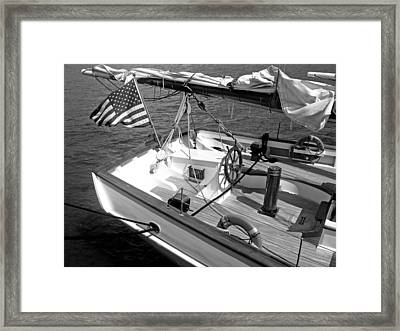 Framed Print featuring the photograph Usa Sailboat by Ellen Tully