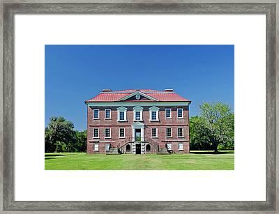 Usa, Sc, Charleston, Drayton Hall, 18th Framed Print by Rob Tilley