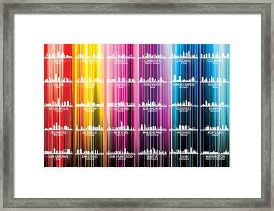 Usa Skylines 2 Framed Print