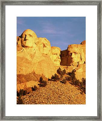 Usa, South Dakota, Keystone, View Framed Print by Walter Bibikow