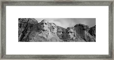 Usa, South Dakota, Mount Rushmore, Low Framed Print