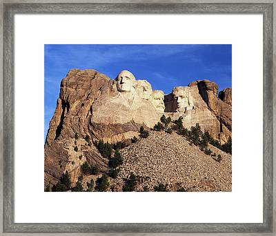 Usa, South Dakota, View Of Mount Framed Print