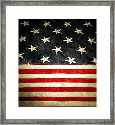 Usa Stars And Stripes Framed Print by Les Cunliffe