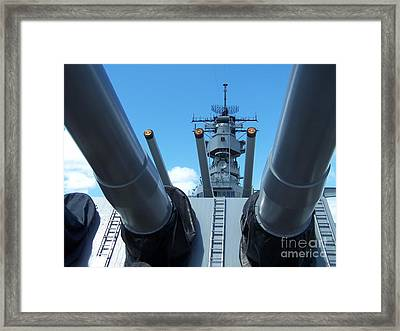 Usa Strength Uss Missouri Framed Print