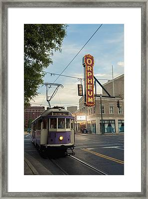 Usa, Tennessee, Vintage Streetcar Framed Print