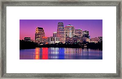 Usa, Texas, Austin, View Of An Urban Framed Print by Panoramic Images
