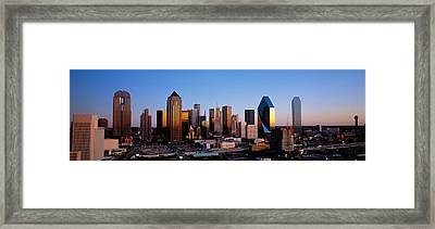 Usa, Texas, Dallas, Sunrise Framed Print by Panoramic Images