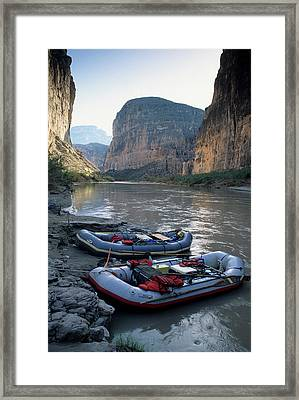 Usa, Texas, Rafting Boquillas Canyon Framed Print