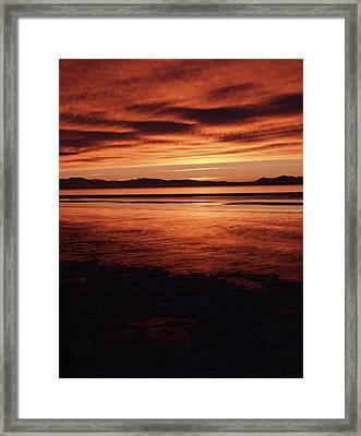 Usa, Utah, Antelope Island, Stansbury Framed Print by Scott T. Smith