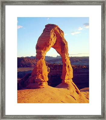 Usa, Utah Arches National Park Delicate Framed Print by Jaynes Gallery