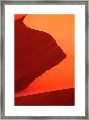 Usa, Utah, Coral Pink Sand Dunes State Framed Print by Jaynes Gallery